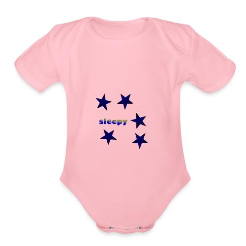Sleepy - Organic Short Sleeve Baby Bodysuit