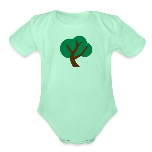 Gently Swaying Tree - Organic Short Sleeve Baby Bodysuit