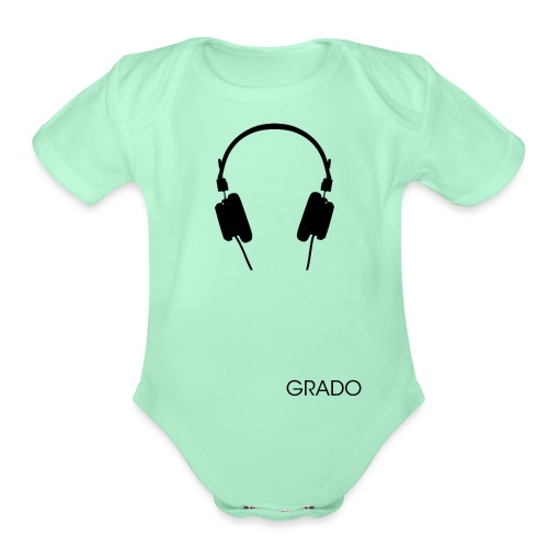 Grado Labs SR80 with Grado png - Organic Short Sleeve Baby Bodysuit