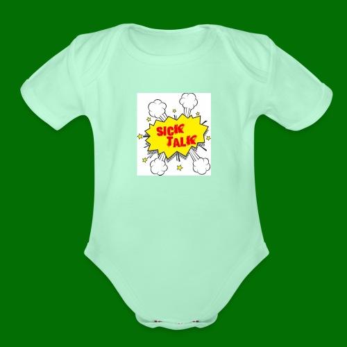 Sick Talk - Organic Short Sleeve Baby Bodysuit
