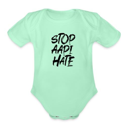 Stop Asian Hate Racist - Organic Short Sleeve Baby Bodysuit