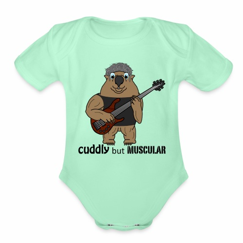 wombatblack - Organic Short Sleeve Baby Bodysuit