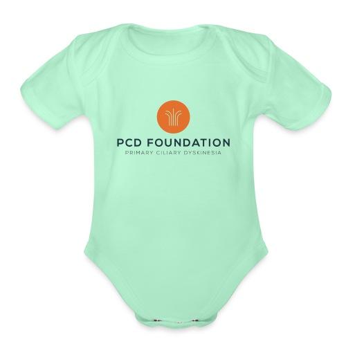 PCDF full logo - Organic Short Sleeve Baby Bodysuit