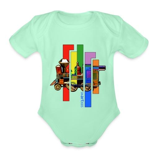 smARTkids - Coco Locomofo - Organic Short Sleeve Baby Bodysuit