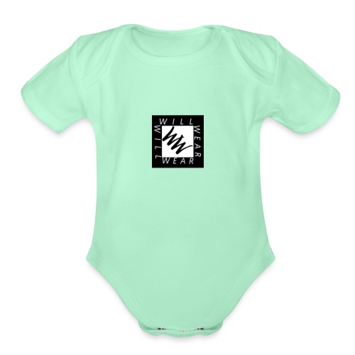 Phone logo - Organic Short Sleeve Baby Bodysuit