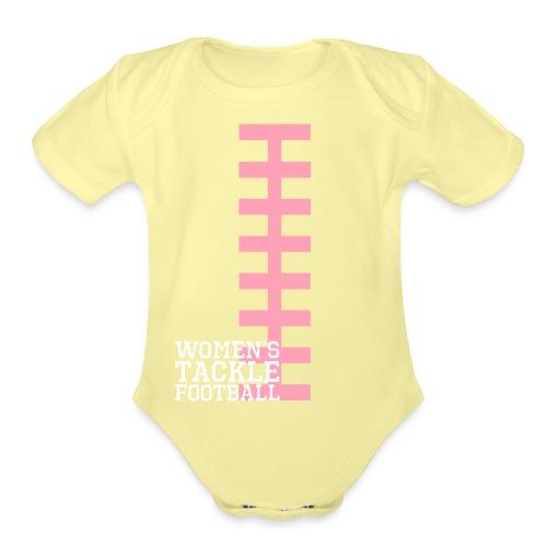 Laces vector - Organic Short Sleeve Baby Bodysuit