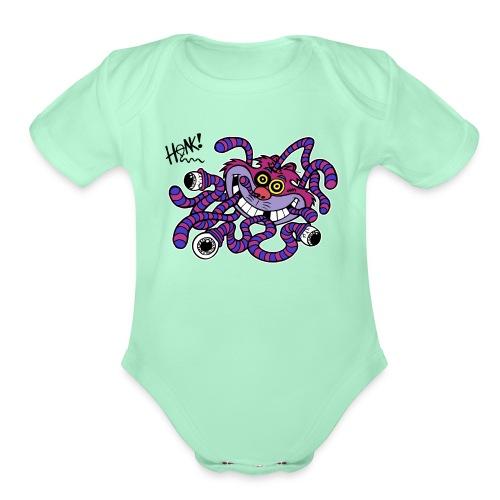 Kitty Zika Black Honk - Organic Short Sleeve Baby Bodysuit