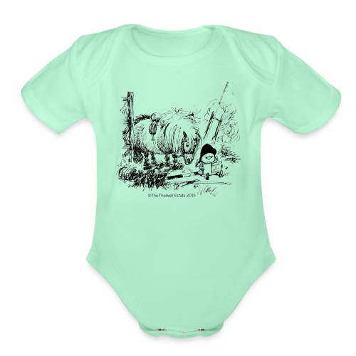 PonyFail Thelwell Cartoon - Organic Short Sleeve Baby Bodysuit