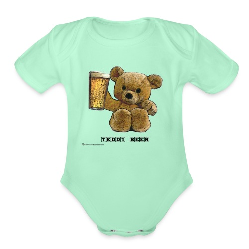 Teddy Beer - Organic Short Sleeve Baby Bodysuit