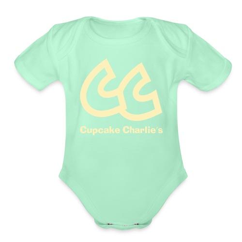 CC Name large - Organic Short Sleeve Baby Bodysuit