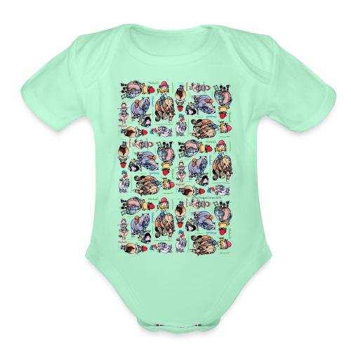PonyCartoons Thelwell Cartoon - Organic Short Sleeve Baby Bodysuit