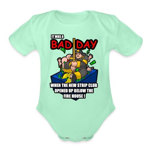 STRIPPER - Organic Short Sleeve Baby Bodysuit