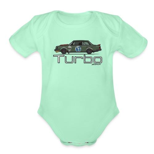 240 Turbo Track Car - Organic Short Sleeve Baby Bodysuit
