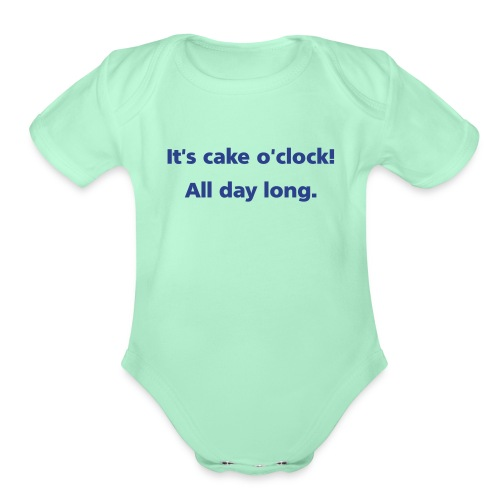 cakeoclock simple - Organic Short Sleeve Baby Bodysuit