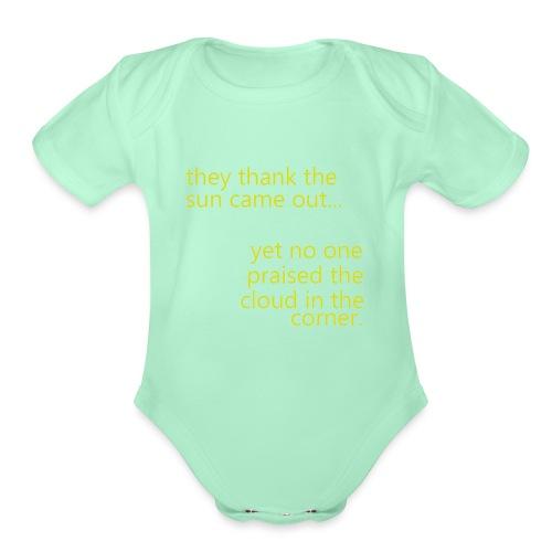cloud & sun - Organic Short Sleeve Baby Bodysuit