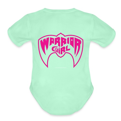 Warrior Girl - Organic Short Sleeve Baby Bodysuit