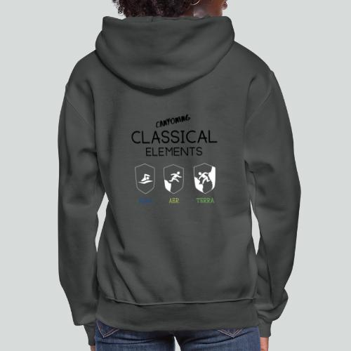 CLASSICAL ELEMENTS-on light back-2 side- all badge - Women's Hoodie