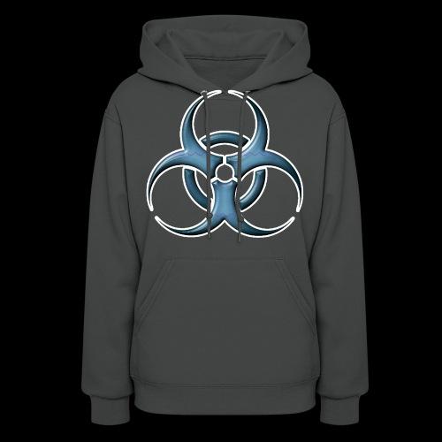 Bio-hazard Stylized Blue Emblem - Women's Hoodie