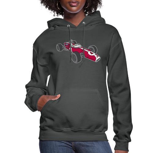 Red racing car, racecar, sportscar - Women's Hoodie
