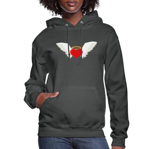 Winged heart - Angel wings - Guardian Angel - Women's Hoodie