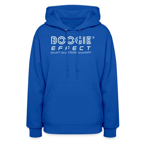 boogie effect fit strong happy logo white - Women's Hoodie