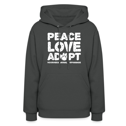 Peace Love Adopt Front png - Women's Hoodie