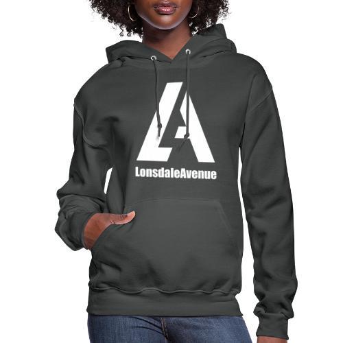 Lonsdale Avenue Logo White Text - Women's Hoodie