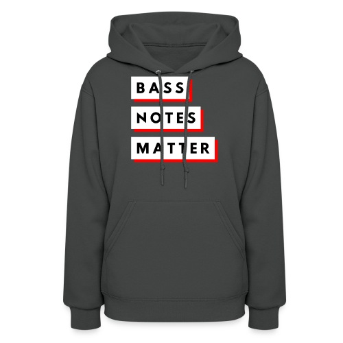 Bass Notes Matter Red - Women's Hoodie