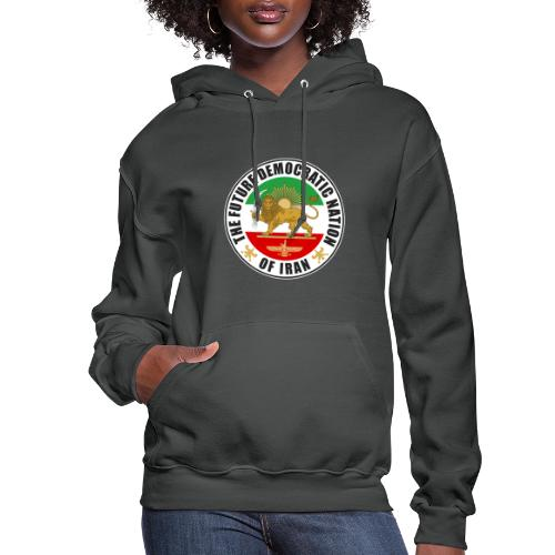 Iran Emblem Old Flag With Lion - Women's Hoodie