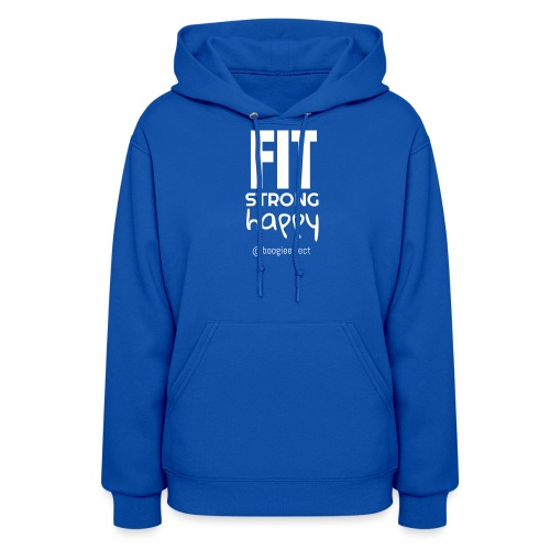 fit strong happy white - Women's Hoodie