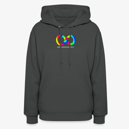 Neurodiversity with Rainbow swirl - Women's Hoodie