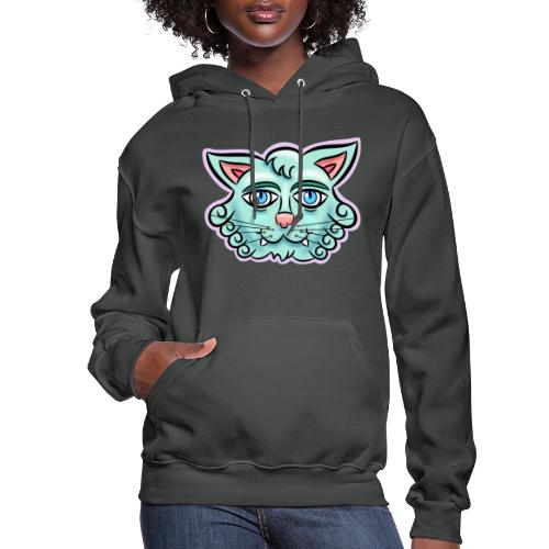 Happy Cat Teal - Women's Hoodie