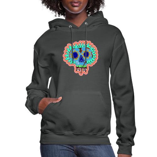 Hippy Día de Muertos - Women's Hoodie