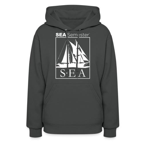 SEA_logo_WHITE_eps - Women's Hoodie
