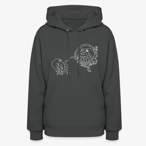 Octopus Creation White Outline - Women's Hoodie