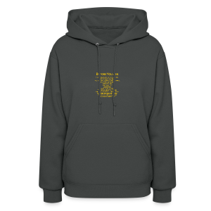 tshirt_pilotVersion_nologo_gold - Women's Hoodie