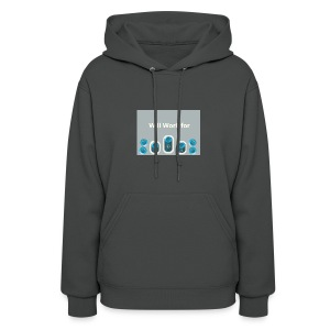Will_work_for_buttons - Women's Hoodie