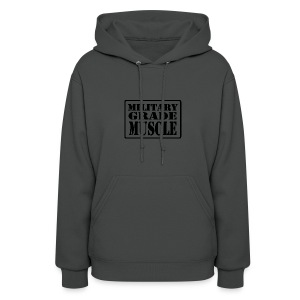 Military Grade Muscle Black - Women's Hoodie