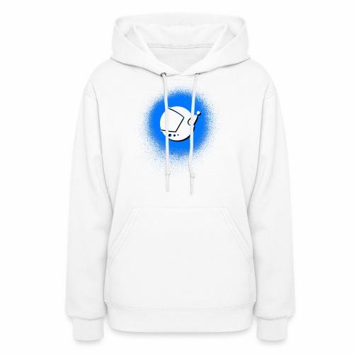 Blue Spray Paint Logo - Women's Hoodie