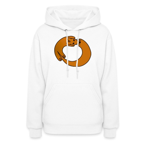 Fox Curled Up in a Circle - Women's Hoodie