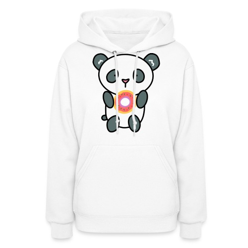 Cute Panda with Donut - Women's Hoodie