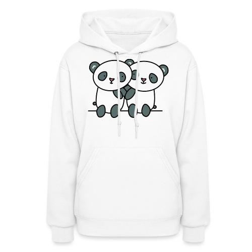 Cute Pandas Hugging - Women's Hoodie