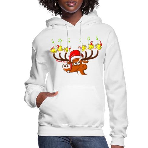 Birds' and Deer's Christmas Concert - Women's Hoodie