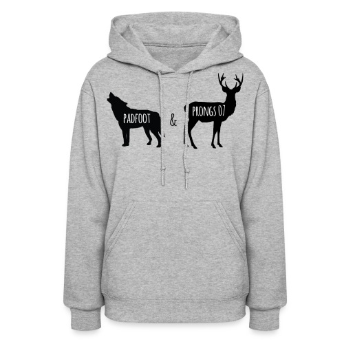 Padfoot & Prongs07 Black - Women's Hoodie