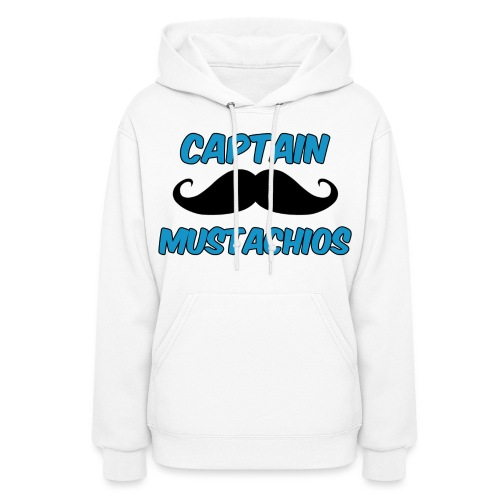 Captain Mustachios Logo For Spreadshirt T Shirt pn - Women's Hoodie