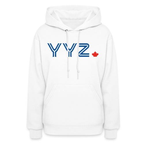 YYZ-Leaf-Blue - Women's Hoodie