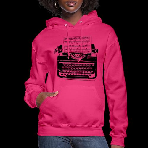 Music Type | Vintage Typewriter - Women's Hoodie