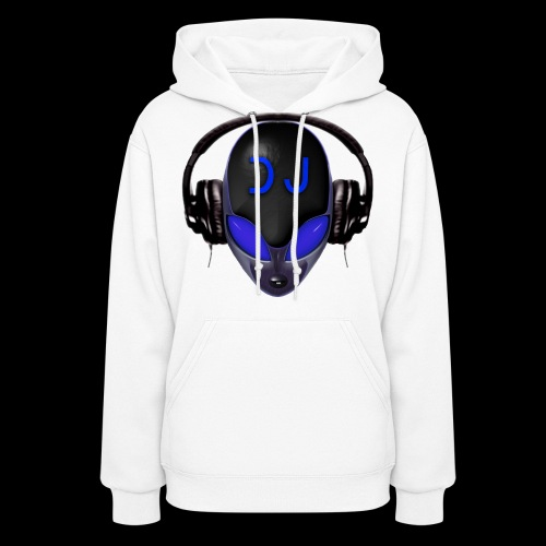Alien Wicked DJ - Blue - Hard Shell Bug Design - Women's Hoodie