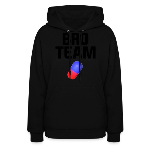 Bro Team Black Words Logo Women's T-Shirts - Women's Hoodie