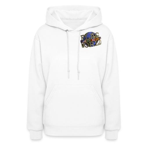 Flagworld Pixel Logo 3000pxwide - Women's Hoodie